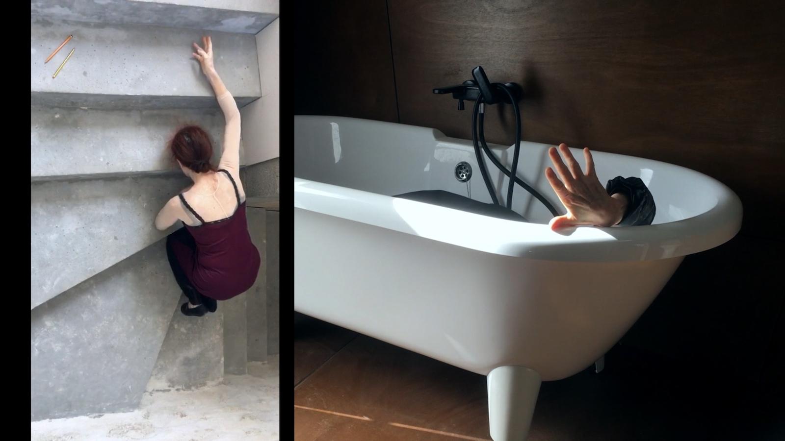 Minutes dansées improvisées. Image du film Cette danse dans nos corps, réalisé par Claire Muchir et Olivier Moulaï